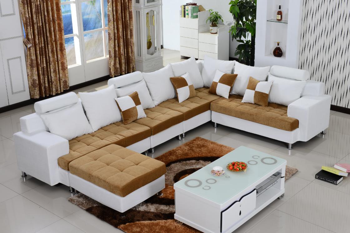 天然环保布艺转角沙发